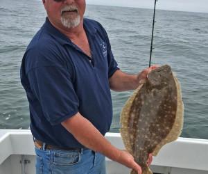 CT Fluke fishing aboard Southbound Fishing Charters